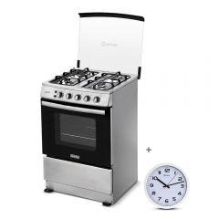 Cocina a Gas Miray Gardenia 4 Hornillas + Reloj Pared Miray RMP-83