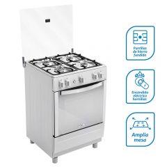Cocina a Gas Coldex CX621 Inox 4 hornillas