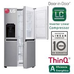 Refrigeradora LG Side by Side GS65SDPN No Frost 601L