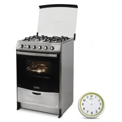 Cocina a Gas Miray Salvia 4 Hornillas + Reloj Pared Miray RMP-61