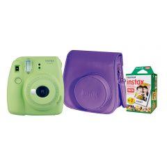 Cámara Instax Fujifilm Mini 9 Verde Limon + Estuche + Pack 20 fotos