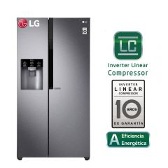 Refrigeradora LG Side by Side LS63SPGK No Frost 591L