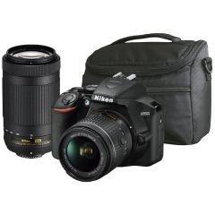 Cámara Réflex Kit con 2 lentes y bolso D3500 18-55 VR y 70-300