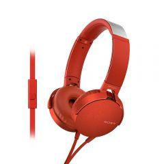 Audífonos Over Ear con Micrófono Sony MDR-XB550AP Rojo