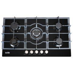 Cocina a gas empotrable Sole SOLCO046 Negro
