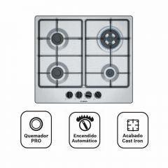 Cocina Empotrable GLP Bosch PGH6B5B60V 4 hornillas