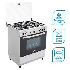 Cocina a Gas Coldex CX702 Gris 5 hornillas