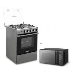Cocina a gas Miray Olmo 4 hornillas + Horno microondas Miray HMM-21N