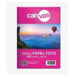 Papel Foto Brillante Canvas 180g x 20 hojas A4