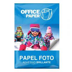 Papel Foto Adhesivo Brillante 120g x 20 hojas A4
