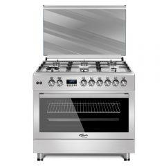 Cocina a Gas Klimatic F9S60GF-SS 6 Hornillas
