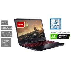 "Laptop ACER AN715-51-75QF 15.6"" Intel Core i7 9750H 1TB HDD + 256GB SSD + 16GB RAM"