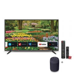 "TV Miray LED 4K UHD Smart 43"" MK43-E2000BT + Parlante Portátil Miray PMBT-49 + Pila Maxell LR-03AAAX2"