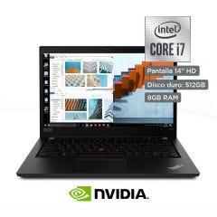 "Laptop Lenovo ThinkPad T490 20RXS06W00 14"" Intel Core i7-10510U 512GB SSD 8GB RAM"