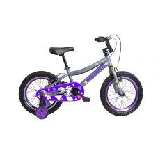 "Bicicleta Monarette Spicy Aro 16"" Gris / Morado"