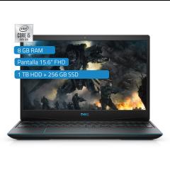 "Laptop Gaming Dell G3 15.6"" Intel Core i5-10300H 1TB HDD + 256GB SSD 8GB RAM"