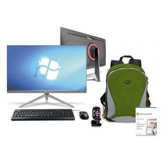All In One Miray SCM_Z240-i5_4460 23.8'' Intel core i5 - 4460 256 GB SSD 8 GB RAM + Programa Microsoft 365 Personal QQ2-00008 + Mochila Para Laptop Miray MML-ENL25015-V  + Cámara Web Micronics Othelo W360 Red