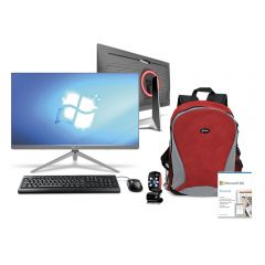 All In One Miray SCM_Z240-i5_4460 23.8'' Intel core i5 - 4460 256 GB SSD 8 GB RAM + Programa Microsoft 365 Personal QQ2-00008 + Mochila Para Laptop Miray MML-ENL25015-R + Cámara Web Micronics Othelo W360 Red