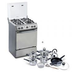 Cocina GLP Miray CMS-24A 4 Hornillas + Juego de Ollas Miray JOM-1302