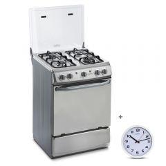 Cocina GLP Miray CMS-24A 4 Hornillas + Reloj Pared Miray RMP-83
