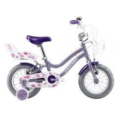 "Bicicleta Infantil Oxford Beauty Aro 12"" 1V Lila/Fucsia"