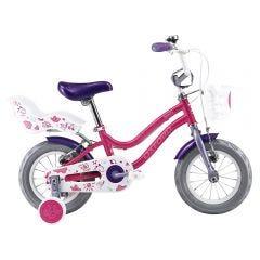 "Bicicleta Infantil Oxford Beauty Aro 12"" 1V Fucsia/Lila"