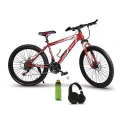 "Bicicleta Montañera 26"" Miray BCM-UGM-36-(26) + Audífonos MIRAY AM-8677B-N Over Ear Negro + Toma todo Miray 600ml Verde TTM-651V"