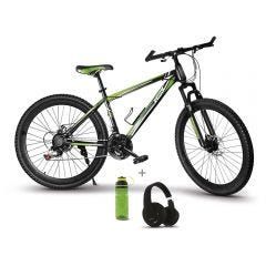 "Bicicleta Montañera 28"" Miray BCM-UGM-36-(28) + Audífonos MIRAY AM-8677B-N Over Ear Negro + Toma todo Miray 600ml Verde TTM-651V"
