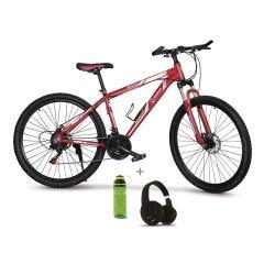 "Bicicleta Montañera 28"" Miray BCM-M76-(28) + Audífonos MIRAY AM-8677B-N Over Ear Negro + Toma todo Miray 600ml Verde TTM-651V"