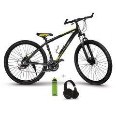 "Bicicleta Montañera 29"" Miray BCM-M76-(29) + Audífonos MIRAY AM-8677B-N Over Ear Negro + Toma todo Miray 600ml Verde TTM-651V"