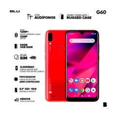 """Celular Libre Blu G60 64GB 6.1"""" Rojo"""
