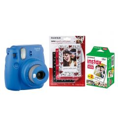 Cámara Instax Mini9 Azul Cobalto + Minimarcos + 20F