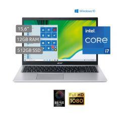 "Laptop Acer A515-56-70NX 15.6"" Intel Core i7 1165G7 512 GB SSD 12 GB RAM"