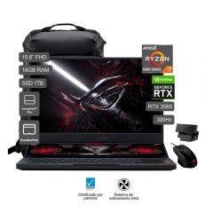 "Laptop Gamer Asus ROG Zephyrus Duo 15 SE 15.6"" GX551QM AMD Ryzen 7 5800H 1TB SSD 16GB RAM"
