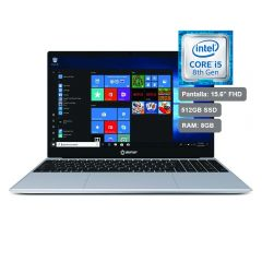 Laptop Miray LPM-BW15-i5 Intel Core i5-8259U 512 GB SSD 8 GB RAM Silver