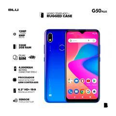 """Celular Libre Blu G50 Plus 6.2"""" 32GB Azul"""