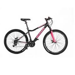 """Bicicleta Monark Mirage Advanced Aro 27.5"""" M Negro/Fucsia"""