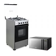 Cocina a Limón 4 Hornillas + Horno microondas HMM-21N