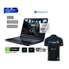 "Laptop Gamer Predator Helios 300 PH317-54-74DG 17.3"" Intel Core i7 10750H 512GB SSD 16GB RAM + Polo Acer - ZZPGAMING"