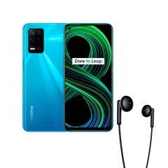 """Celular Libre Realme 8 5G 6.5"""" 128GB 4GB RAM Azul Supersonico + Audífono Realme Buds Classic Negro"""