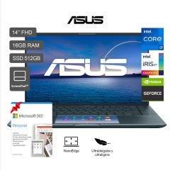 "Laptop Asus ZenBook 14 14"" UX435EG Intel Core i7-1165G7 512GB SSD 16GB RAM + Microsoft 365 Personal"