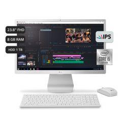 "All In One LG 24V50N-G.AH58B4 23.8"" Intel Core i5 1021OU 1TB HDD 8GB RAM"