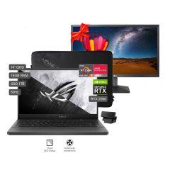 """Laptop Gamer Asus ROG Zephyrus G14 14"""" GA401V AMD Ryzen 9 1TB SSD 16GB RAM + Monitor LG IPS Full HD 22MN430M-B 21.5"""""""