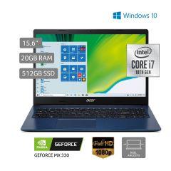 "Laptop Acer A315-57G-73GS 15.6"" Intel Core i7 512GB SSD 20GB RAM"