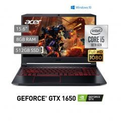 "Laptop Acer AN515-55-58WZ 15.6"" Intel Core i5 10300H 512GB SSD 8GB RAM"