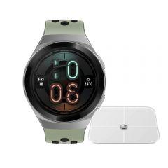 Reloj Huawei Watch GT2e Hector-B19C Green + Balanza Huawei Smart Scale CH-100