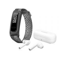 Audífonos Huawei FreeBuds 3i Blanco + Reloj Huawei Band 4e