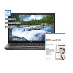 "Laptop Dell Latitude 5400 14"" Intel Core i7-8665U 256GB SSD 8GB RAM + Microsoft Office Personal 365"
