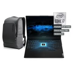 "Laptop Gamer Lenovo Legion 5i 15IMH05H 15.6"" Intel Core i7 10750H 1TB SSD 16GB RAM + Mochila para laptop Lenovo Recon Gaming Backpack"
