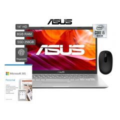 "Laptop Asus X409JA-BV101T 14"" Intel Core i5-1035G1 256GB SSD 8GB RAM + Office 365 Personal + Mouse Microsoft 1850"